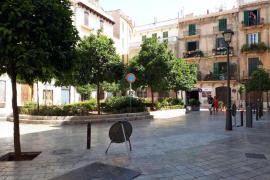 La plaza del Banc de s'Oli ya es peatonal