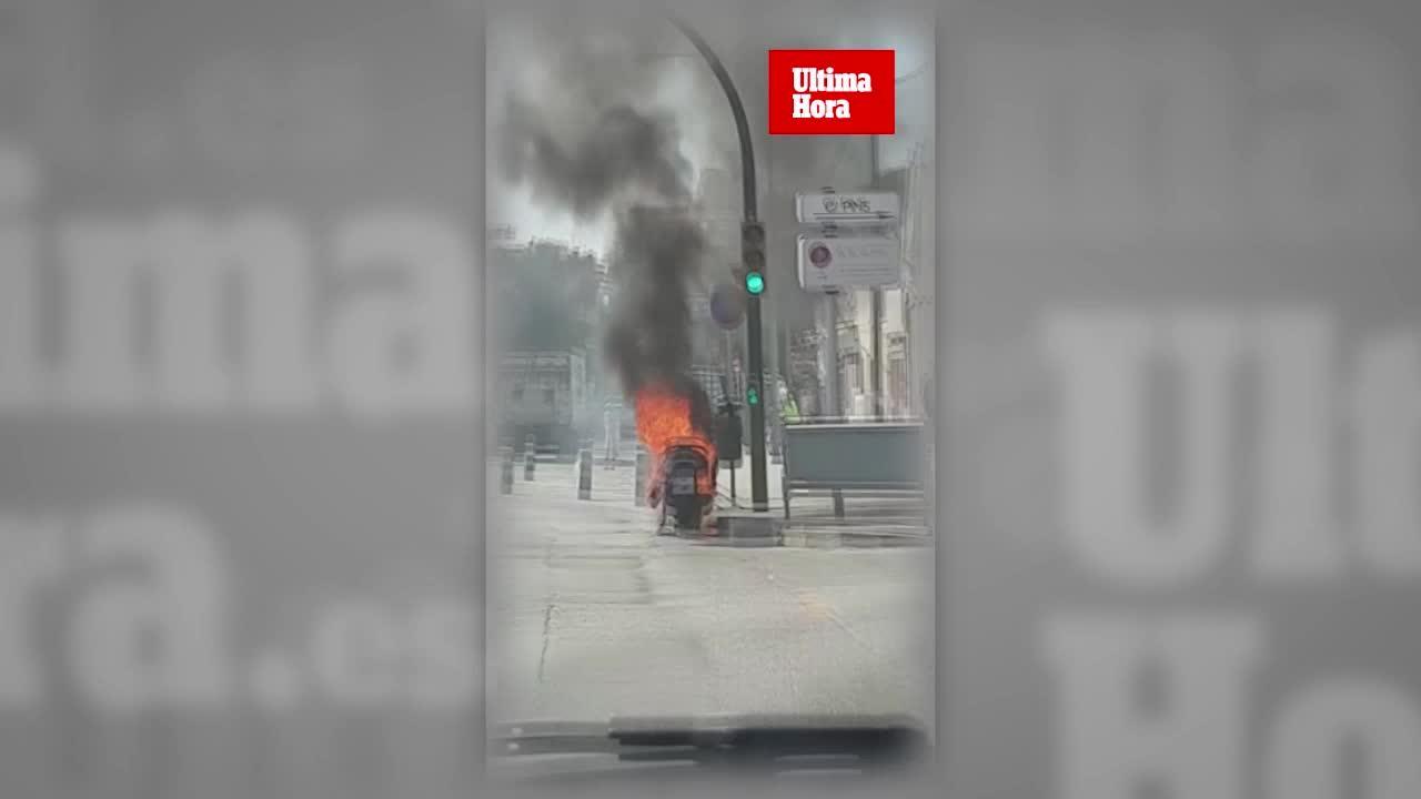 Arde una moto en Can Pastilla