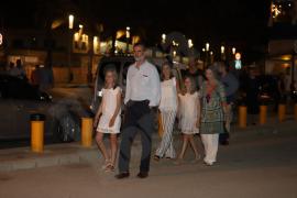 La Familia Real, reunida para cenar en un restaurante de Palma