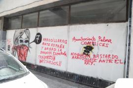 El Casal Popular Voltor Negre de Palma vuelve a ser víctima de las pintadas fascistas