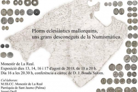 La Real acoge la exposición 'Ploms eclesiàstics mallorquins, uns grans desconeguts de la Numimàstica'
