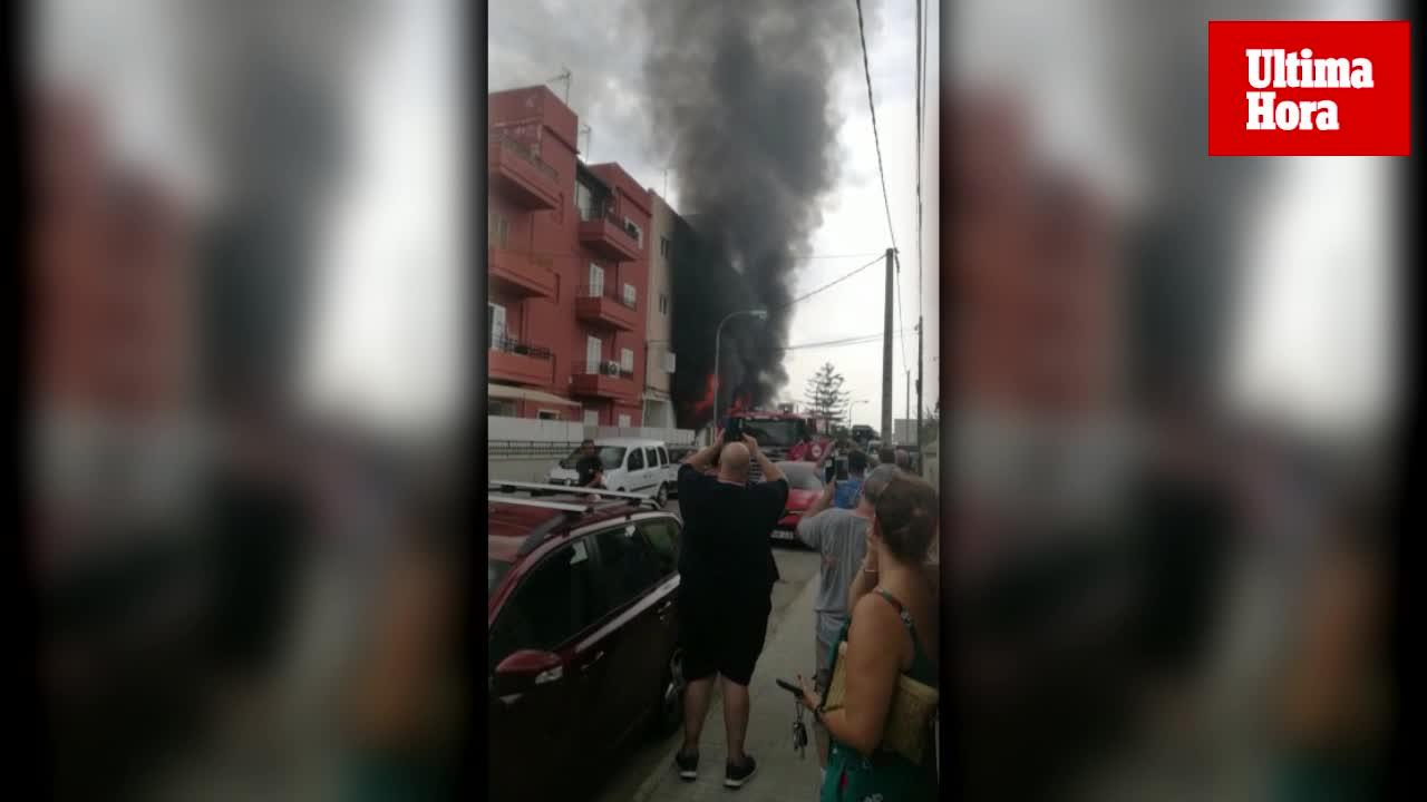Alarma en Son Ferriol por un virulento incendio