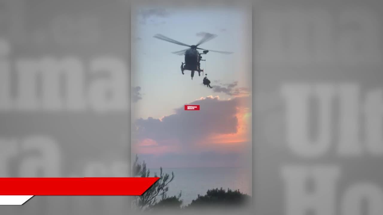 Rescatan en helicóptero a un hombre en es Port des Canonge