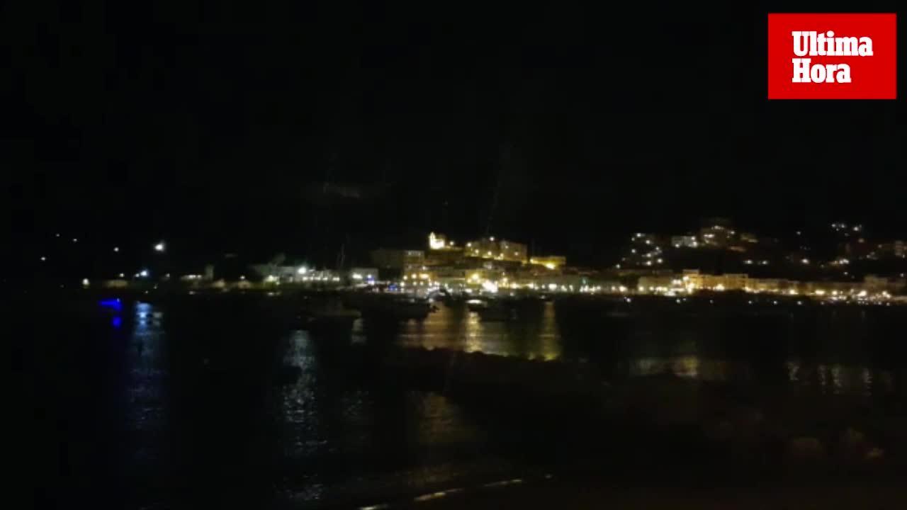 Espectacular tormenta eléctrica sobre el Port de Sóller