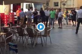 Tensión en Reus por una pancarta solidaria con los políticos catalanes presos