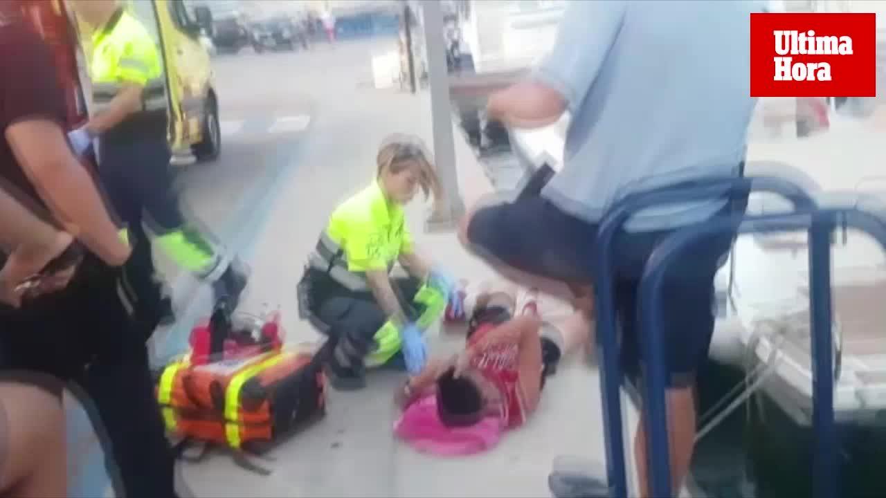 Un menor herido por una zodiac en el Port d'Andratx