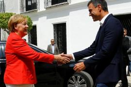 Angela Merkel se reúne con Pedro Sánchez