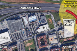 La vía de cintura tendrá un nuevo acceso a Palma desde la antigua cárcel