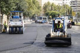 Cortes de tráfico en el Paseo Mallorca por las obras de asfaltado