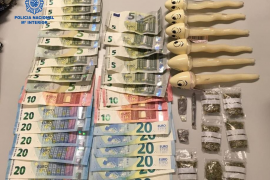 Tres detenidos por tráfico de drogas en la Playa de Palma