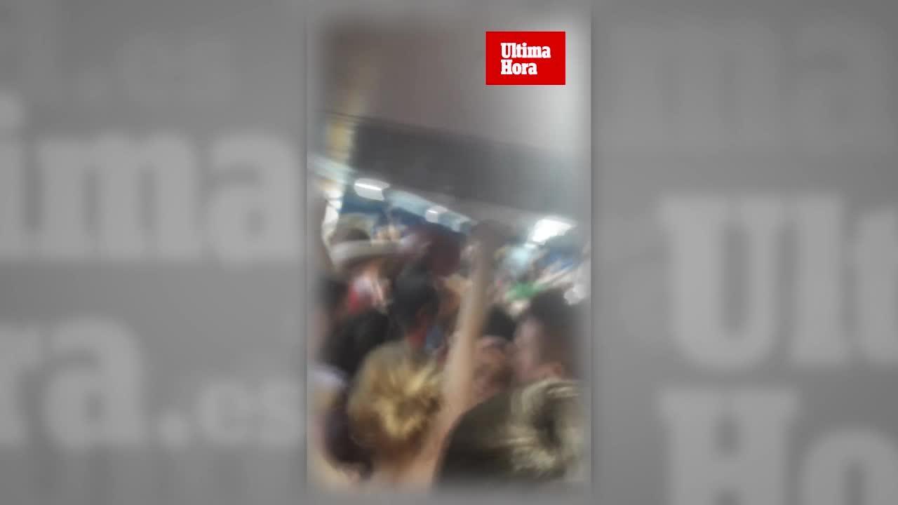 Colapso en el tren tras la Mucada de Sineu