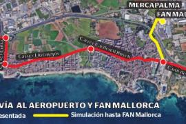 Cort proyecta que el tranvía al aeropuerto tenga un ramal hacia Fan y Mercapalma