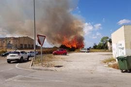 Incendio en una zona industrial de Felanitx