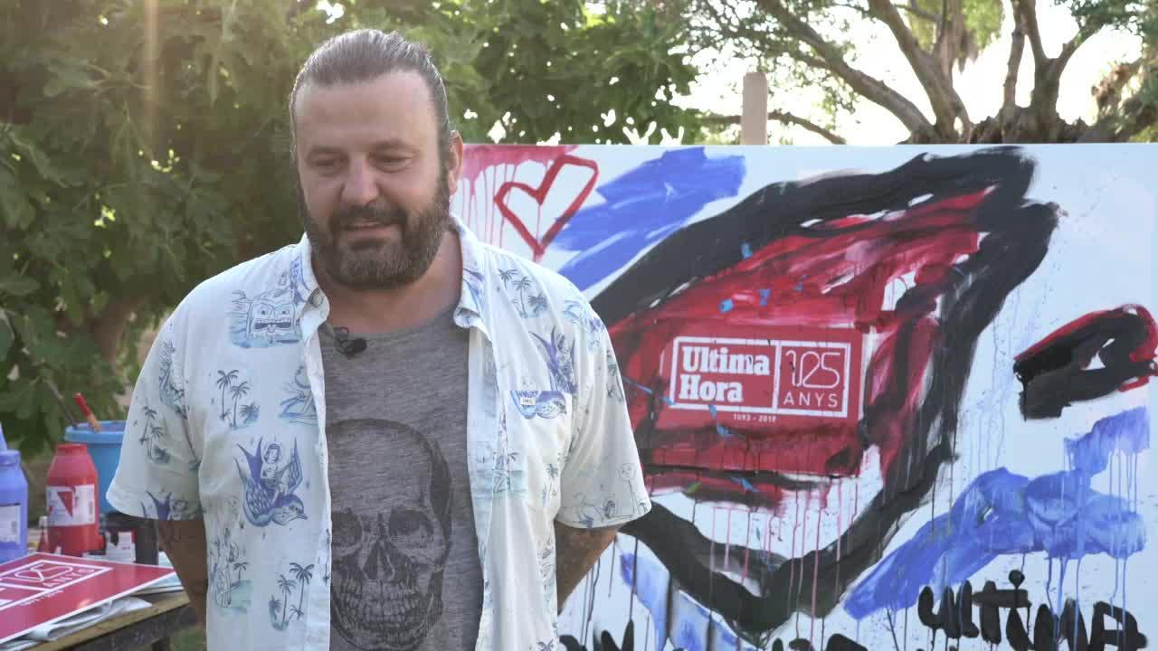 Domingo Zapata celebra sobre un lienzo los 125 años de 'Ultima Hora'