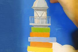 Un gran mural de Flavia Gargiulo custodia la bebeteca de Can Sales