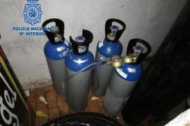Ocho detenidos en una operación en locales de ocio de Palma donde se distribuía «gas de la risa»