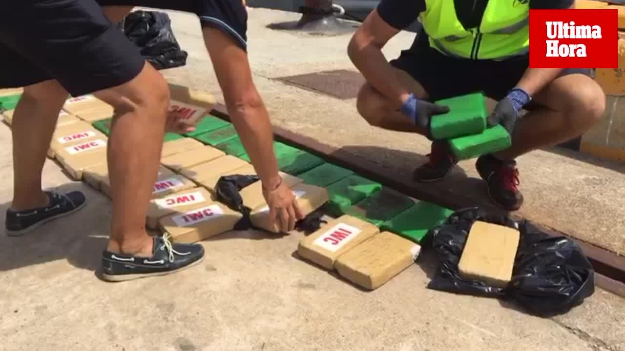 La cocaína incautada en aguas de Baleares tiene un valor de 18 millones de euros