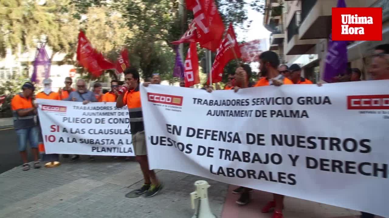 Los trabajadores de la grúa temen despidos o bajadas de salarios