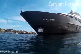 Un yate de 40 metros causa graves daños a la posidonia de Portocolom