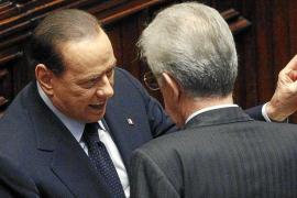 Monti obtiene el 'sí' parlamentario y anuncia reuniones con Merkel y Sarkozy