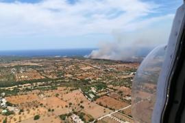 Controlado el incendio de Cala Magraner