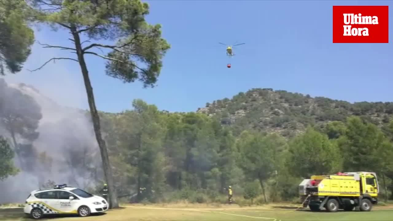 Incendio en el Golf de Son Servera