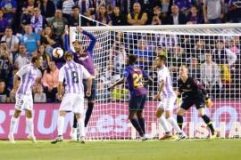 Dembelé da la victoria al Barça en Valladolid (0-1)
