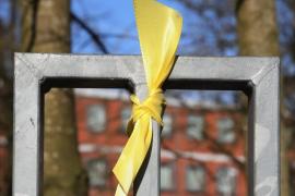 La mujer de un militante de Ciudadanos, agredida por quitar lazos amarillos