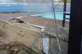 El GOB denuncia la pasividad de Costas tras el derrumbe de una terraza en Sant Elm