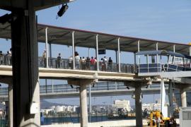 Se da a la fuga al ser interceptado en el puerto de Palma con el billete de embarque de otra persona