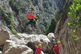 Rescatan a una excursionista herida en un tobillo en el Torrent de Pareis