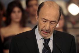 Prime ministerial candidate Rubalcaba of the Spanish Socialist Workers' Party (Partido Socialista Obrero Espanol) concedes defea