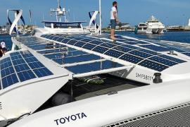 Llega a Formentera el primer barco que no emite gases de efecto invernadero