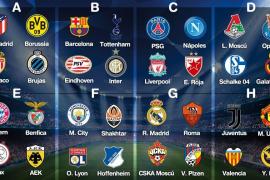 Duros grupos en Champions para Barcelona y Valencia y asequibles para Madrid y Atlético