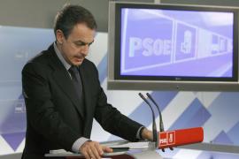 Zapatero anuncia un Congreso ordinario del  PSOE para febrero