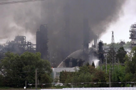 Arde una refinería alemana
