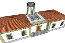 El faro de Ses Coves Blanques contará con una techo solar en el patio de acceso