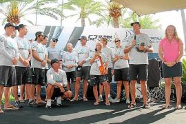 Entrega de trofeos de la 52 Super Series Sailing Week en Puerto Portals