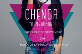 Chenoa y su gira '+Humana' recalan en Santa Ponça