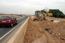 Un trabajador herido en las obras de la carretera de Manacor