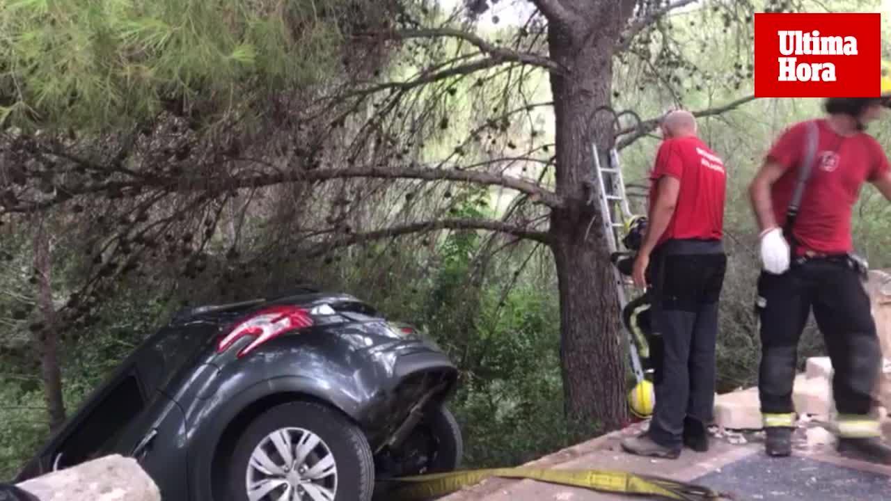 Espectacular accidente en Andratx