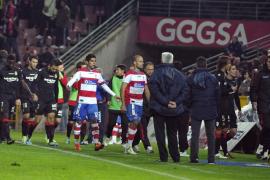 El Granada-Mallorca se reanudará en el minuto 61 a puerta cerrada en   Los Cármenes
