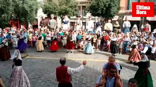 Los 'gegants' toman el centro de Palma
