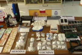 Desarticulada en Ibiza una organización criminal que introducía en la isla heroína y cocaína