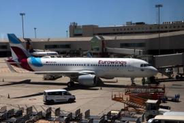 Un avión de Eurowings regresa a Palma por el impacto de una liebre durante el despegue