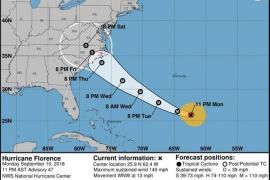 El huracán 'Florence' mantiene su fuerza al este de Carolina del Norte
