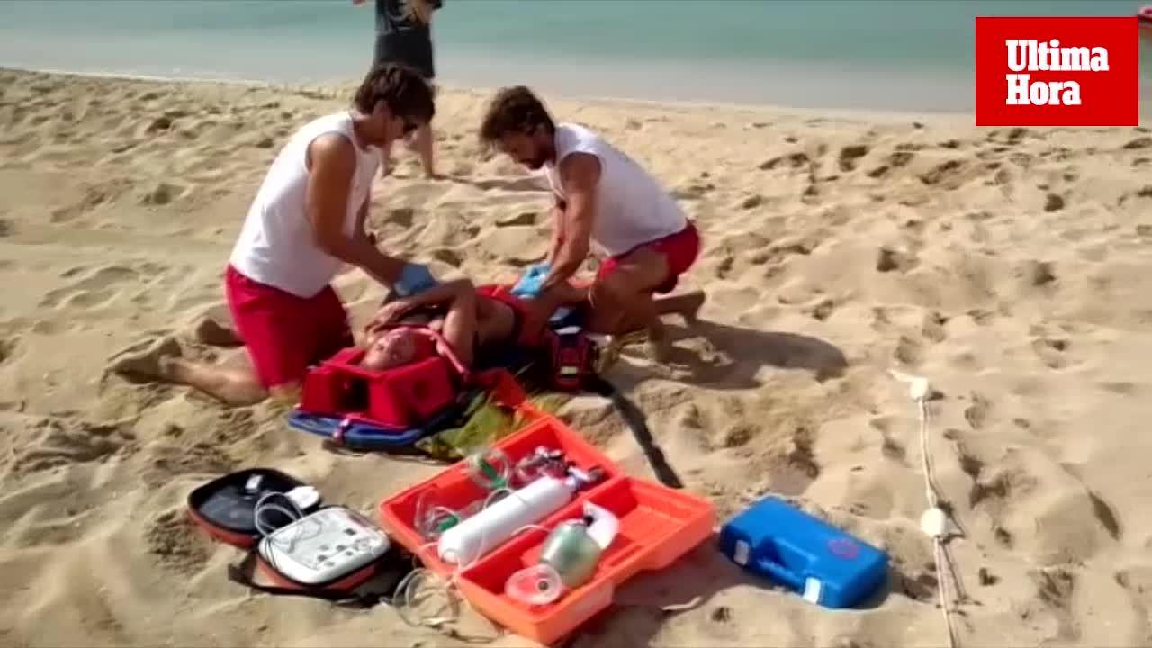 Realizan un simulacro de emergencia en la Playa de Palma