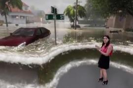 La espectacular recreación con realidad virtual de los efectos de las lluvias torrenciales