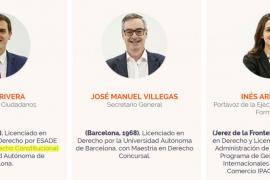 La Autónoma de Barcelona niega que Rivera sea doctorando en Derecho
