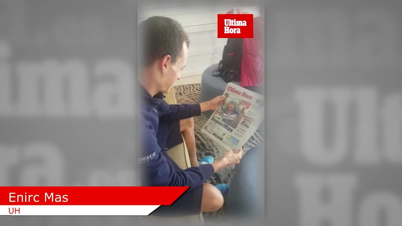 Enric Mas recibe a Ultima Hora tras su gesta en La Vuelta